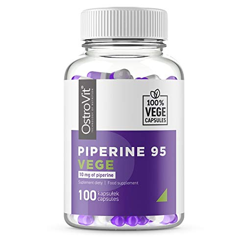 Ostrovit Piperin 95 Vege 1er pack x 100 Kapseln Fettverbrenner Pfefferfruchtextrakt Abnehmen