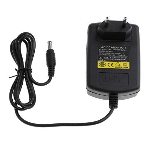 Cargador con enchufe europeo, adaptador de corriente de 100-240V CA a 9V, 2A CC, de 5.5mm