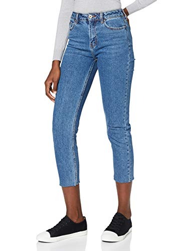 ONLY Damen Straight Jeans onlEMILY HW ST RAW JNS DB MAE 0005 NOOS,...