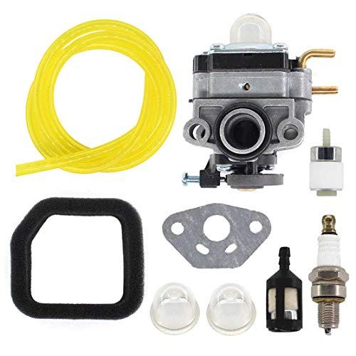 USPEEDA Carburetor for Troy-Bilt TB4BP TBP6160 TB4BPEC Backpack Blower 753-05676A Carb Fuel Line Filter Spark Plug