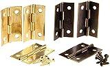 4 unids antiguo bronce/gabinete de oro bisagras accesorios de muebles cajas de madera bisagras decorativas accesorios de muebles 34x22mm (Color : Gold)