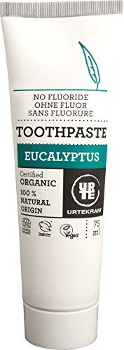 Urtekram Biologische tandpasta van eucalyptus, zonder vloer, per stuk verpakt (1 x 75 ml) 75 ml