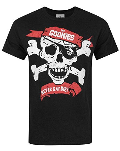 MUSH T-Shirt Donna The Goonies Never Say Die 80S Donna-S-Nera