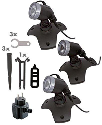 Seliger Außenbeleuchtung Aqaulight 300 Power LED 3er-Set,  162 x Ø 150 mm pro Stück