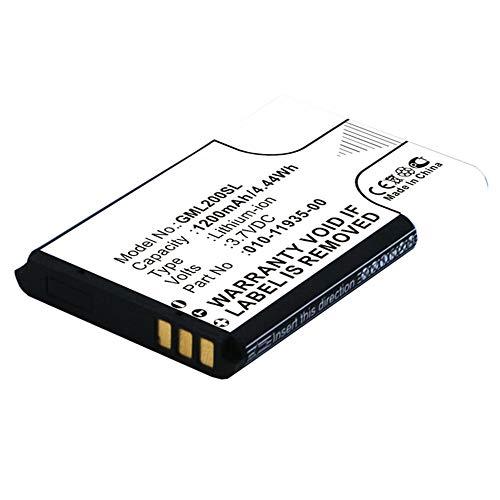 subtel® Batteria Premium Compatibile con Garmin GLO/GLO 2, 010-01055-15, 010-02184-01, 010-11935-00 1200mAh accu Ricambio Sostituzione