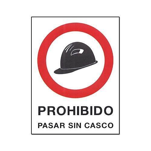 Cv Tools 0232 - Cartel pvc 40x30 prohibido pasar sin casco