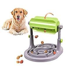 Alsanda Interaktives Hundespielzeug Welpenspielzeug Futternapf 2in1 für Hunde und Katzen | Gesunder Snackspender | Intelligenzspielzeug für Hunde | Mit Anti Schling Napf | BPA-Frei
