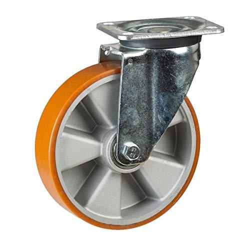 Schwerlastrollen - Lenkrollen - Durchmesser 125 mm - Tragkraft 500 kg - Hervorragende Qualität Konform RoHS
