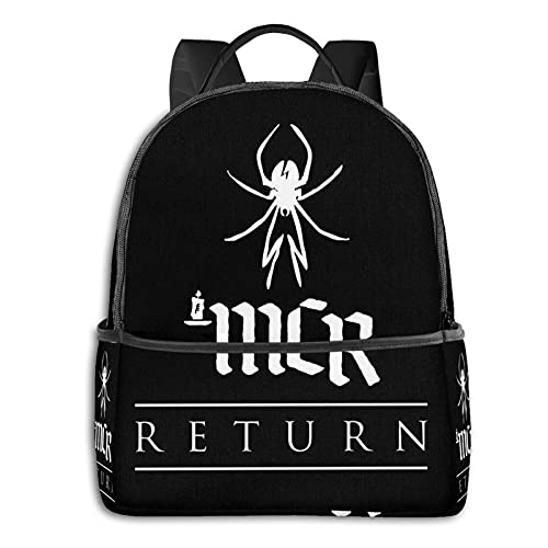 My Spider Return Chemical Tour 2020 Husada Romance Black Tapestry School Unisex Large Capacity Durable Green Outdoor Activity Four Seasons Daily Daypacks