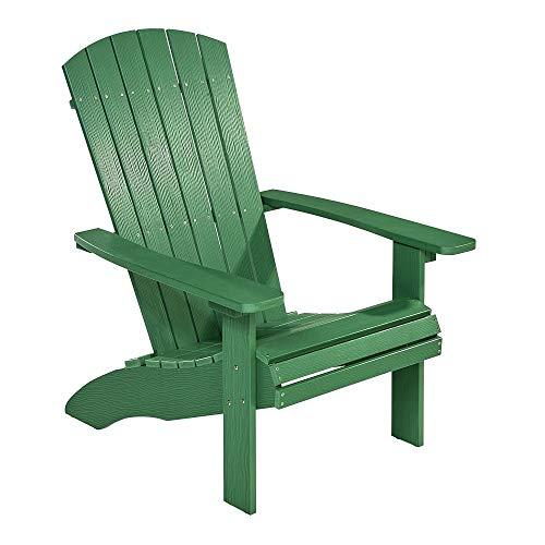 NEG Design Adirondack Stuhl Marcy (grün) Westport-Chair/Sessel aus Polywood-Kunststoff (Holzoptik, wetterfest, UV- und farbbeständig)