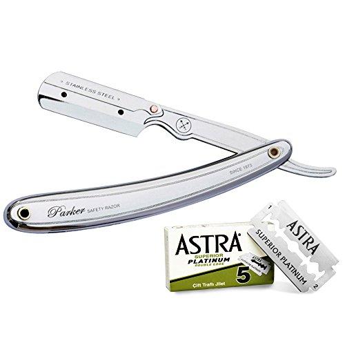 Parker 31R–Professionelles Rasiermesser aus Edelstahl und 5Klingen ASTRA Superior Platinum (Green)