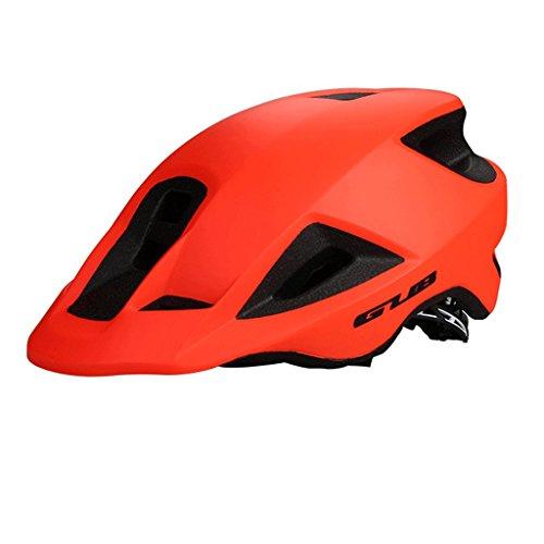 DGF Casque de vélo une pièce chapeau route vélo de montagne hommes et femmes vélo sport visière casque réfléchissant multicolore (Couleur : Orange)
