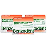 Benzodent Dental Pain Relieving Cream 0.25 Oz (3 Pack)
