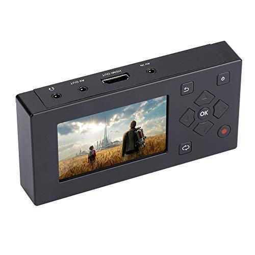 ASHATA Grabadora de Audio y Video con Pantalla TFT de 3 Pulgadas, USB Grabador AV con Soporte de Tarjeta SD, Adaptador Recorder Reproductor con Aplicaciones Amplias de Video y Audio