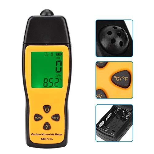 Handheld-Kohlenmonoxid-Messgerät mit hochpräzisen CO-Gas-Tester Monitor Detektor Anzeige LCD-Display Ton- und Lichtalarm 0-1000ppm - Wirklich gute Qualitätsprodukte, kein Müllhaufen