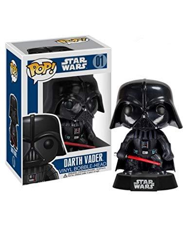 Star Wars Pop! Vinyl Wackel- Figur 01 Darth Vader Hersteller: Funko. Kommt in schöner Geschenkbox mit Sichtfenster.