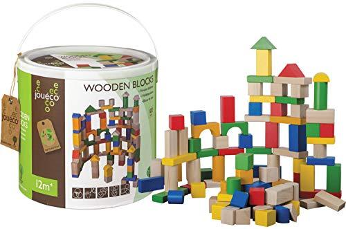 Jouéco Blocs de Bois, 80019, 100 Pièces