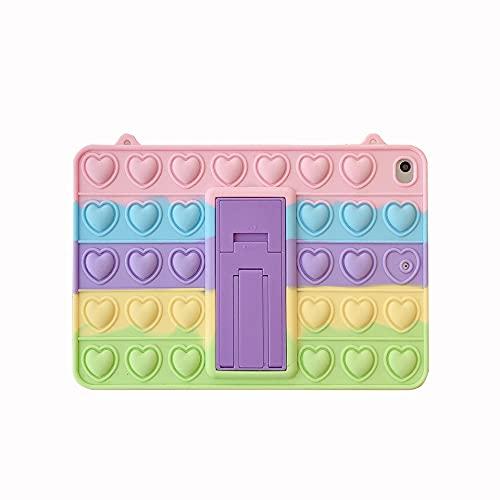 Relive Stress Pops Fidget Toys Push It Bubble Tablet Case para iPad Mini Samsung Case (mini1/2/3?7.9?, colores del arco iris)