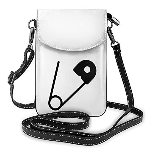 Bolso cruzado del monedero del teléfono celular del Pin de la seguridad, bolso del teléfono celular, monedero del monedero del teléfono celular bolso del embrague del cuero