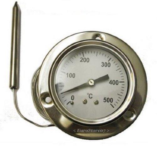 1 Termometro 500 ^ Gradi Sonda Fflessibile Lunga Cm 160 --Per Forno A Legna Barbecue
