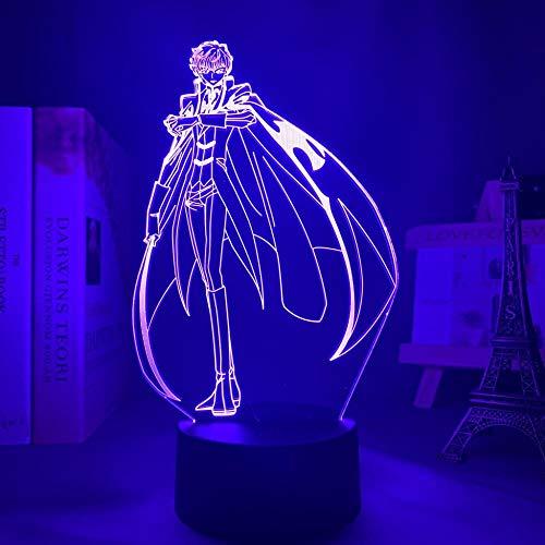 Lámpara de noche 3D con diseño de anime Attack on Titan LED para dormitorio decoración de niños regalo Attack on Titan mesa 3D lámpara fiesta regalos de Navidad
