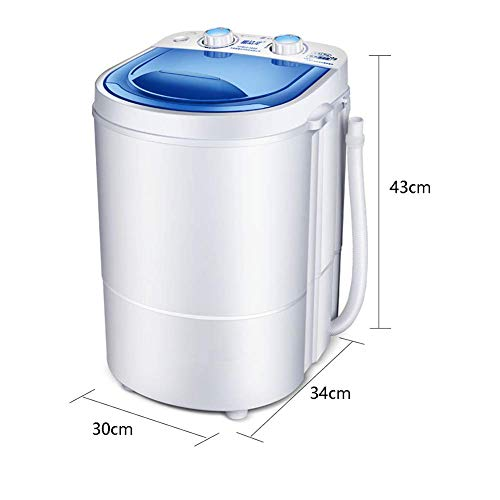 MU Haushaltswaschmaschine Elutionsintegriertes Baby Baby Mini, Zeitfunktion Intelligentes antibakterielles UV-Reinigungsmittel Flüsterleise Waschkapazität von 2,2 kg, Haushaltsschlafzimmer Micro,Weiß