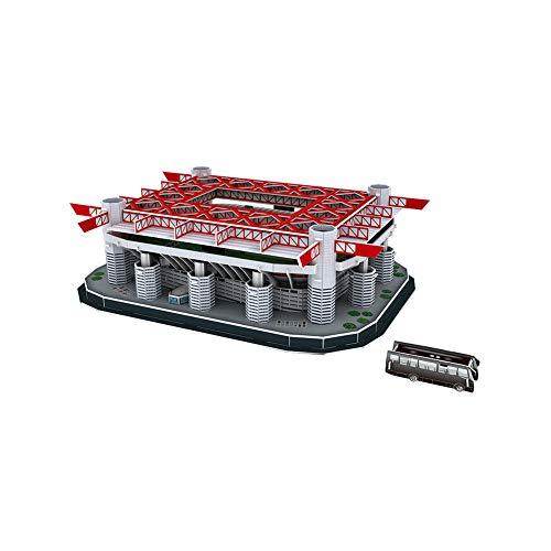 Hilai 1PACK 3D Puzzle Fußballfeld Papiermodelle Modell Stadion Puzzle Montage Spielzeug pädagogisches Spielzeug Stereo-Puzzle Spielzeug-Set für Erwachsene und Jugendliche (B)