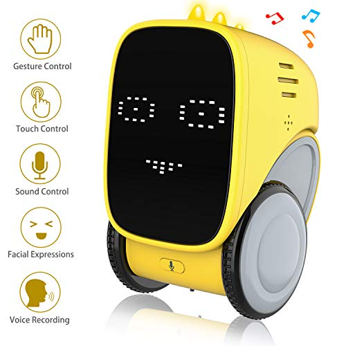 Intelligent Smart Robot Toy for Kids, OKK Voice and Touch Gesture Control Mini Robotics Rechargeable Toys Dancing, Walking, Singing, Robots for Toddler Age 5 6 7 8 Year Old Boys Girls Educational Gift