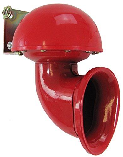 Carparts-Online 20243 Bull Horn Fanfare Hupe Nebelhorn Sound rot 12 Volt