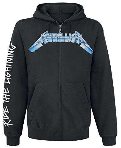 Metallica Ride The Lightning Capucha con Cremallera Negro XXL