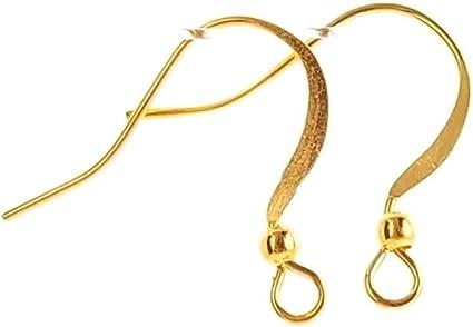 Earring Findings Brass Earring Hook 50pcs Raw Brass Ear Wires NZG194 Necklace Jewelry Findings 12x22mm