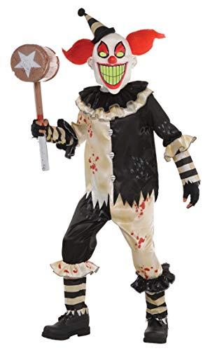 Amscan 9903629 - Kinderkostüm Horrorclown, Langarmshirt, Hose, Gesichtsmaske, Leuchtet in der Dunkelheit, Nachleuchtende Maske, Mottoparty, Karneval, Halloween