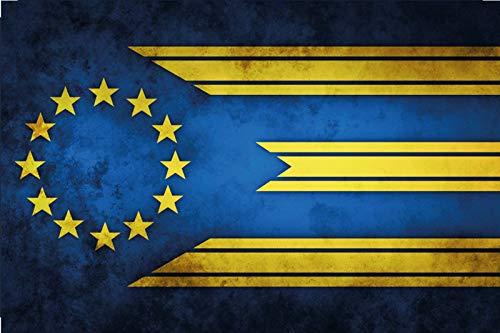 FS land vlag Europa nationale vlag metalen bord bordje gewelfd Metal Sign 20 x 30 cm