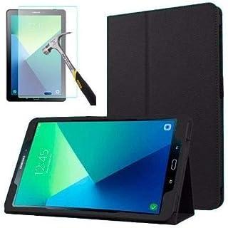 """Capa Agenda Tablet Samsung Galaxy Tab A 10.1"""" SM-P585 / P580 + Película de Vidro - Preta"""