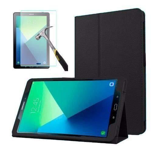 Capa Agenda Tablet Samsung Galaxy Tab A 10.1' SM-P585 / P580 + Película de Vidro - Preta