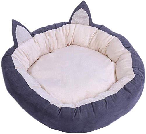 Hexiao Cojín del sofá Cama for Perros Camas for Perros Mascotas Ronda Nido Gato cavar extraíble Cubierta Gato Comodidad Rosa M-Small_Gray xiao1230 (Color : Gray, Size : Small)