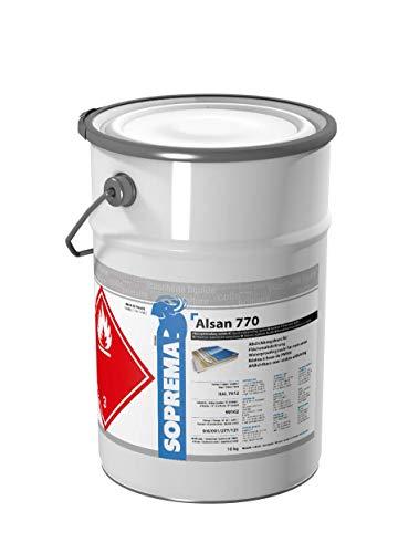 ALSAN PMMA Flüssigkunststoff - 770 Fläche 10,0 kg/Gebinde - 2-komponentig inkl. Katalysator | schnellhärtendes Abdichtungsharz für flächige Abdichtungen mit Vlieseinlage (RAL 7012 - basaltgrau)