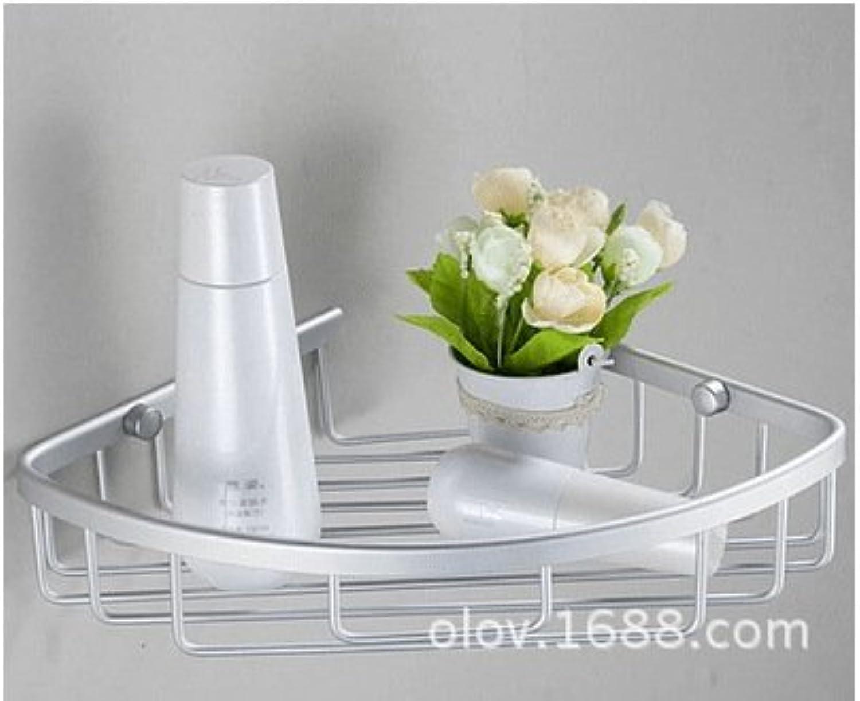 Hardware accessories bathroom space aluminum triangle double basket racks Triangle flat