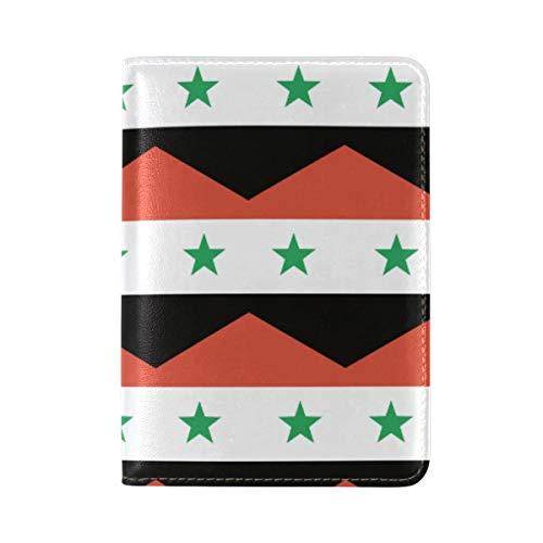 Reisepasshülle aus Leder, Motiv: Flagge der syrischen Flagge
