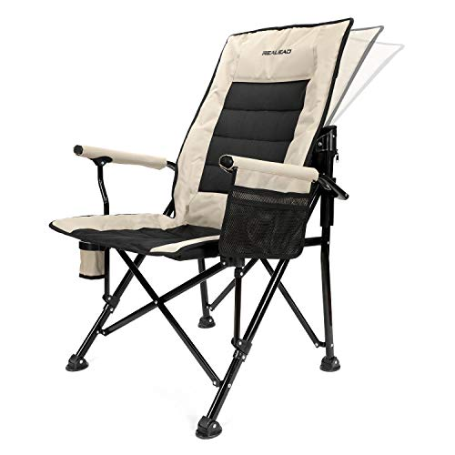 Realead Adjustable Oversized Camping Chair Heavy Duty Folding Chair High Back Support Beach Chair...