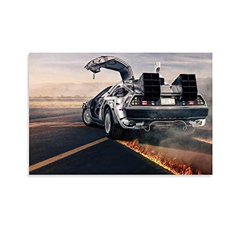 HYQHYX Fantascienza – Ritorno al futuro auto – Poster cinematografico poster decorativo su tela da parete per soggiorno, camera da letto, 20 x 30 cm