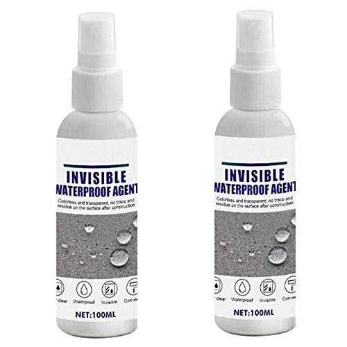 Superstarkes Haftspray, 100 ml Mighty Adhesive Sealant Permeable Invisible Waterproof Agent, Nano Leak-Trapping-Mittel für Risse/Außenwände/Fenster/Badezimmer (2 Pcs)