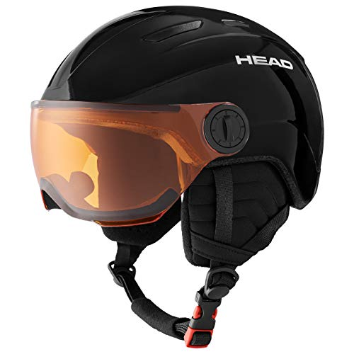 HEAD Mojo Visor Casco de Esqui, Unisex Adultos, Negro, XXS