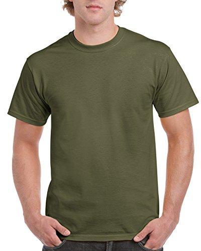 Gildan Men's G2000 Ultra Cotton Adult T-shirt, Military Green, X-Large