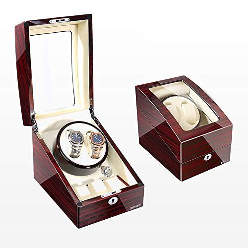 Caja Giratoria para Relojes Devanadera de Reloj 2 + 3, Caja de Madera Doble de Lujo Caja de Almacenamiento de Reloj (Color : C)