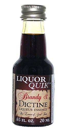 Liquor Quik - HOZQ8-332 Natural Brandy Essence, 20 mL (Brandy and Dictine Liqueur)