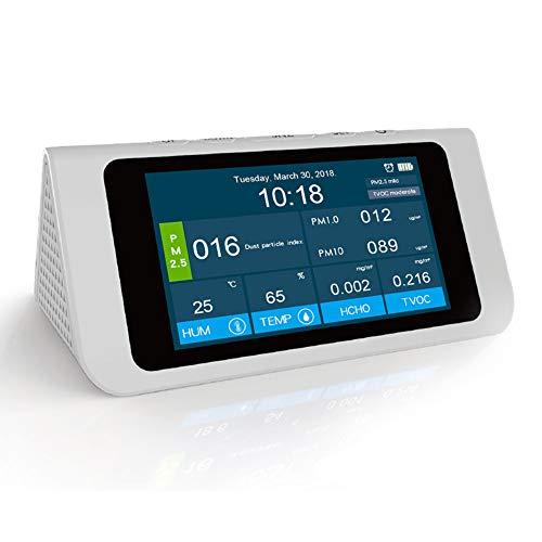 Saiko Luftqualität-Messgerät Formaldehyd(HCHO)-Messgerät, Formaldehyd (HCHO) Detektor pm2,5/PM10/tvoc TEMP AQI Tester präzises Testen für Häuser, Autos und im Freien