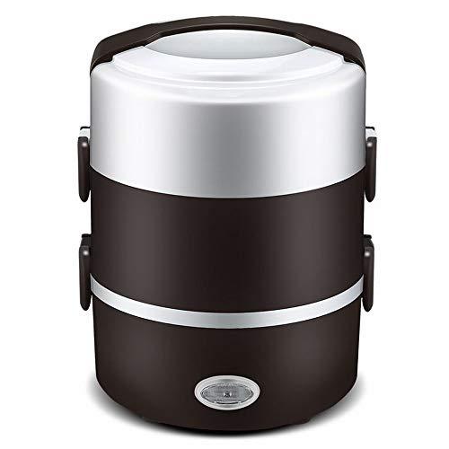 CN Elektrische Lunchbox Doppelheizung Reiskocher gedämpfter Reis Kochen Reis Isoliert tragbar,Kaffee,1
