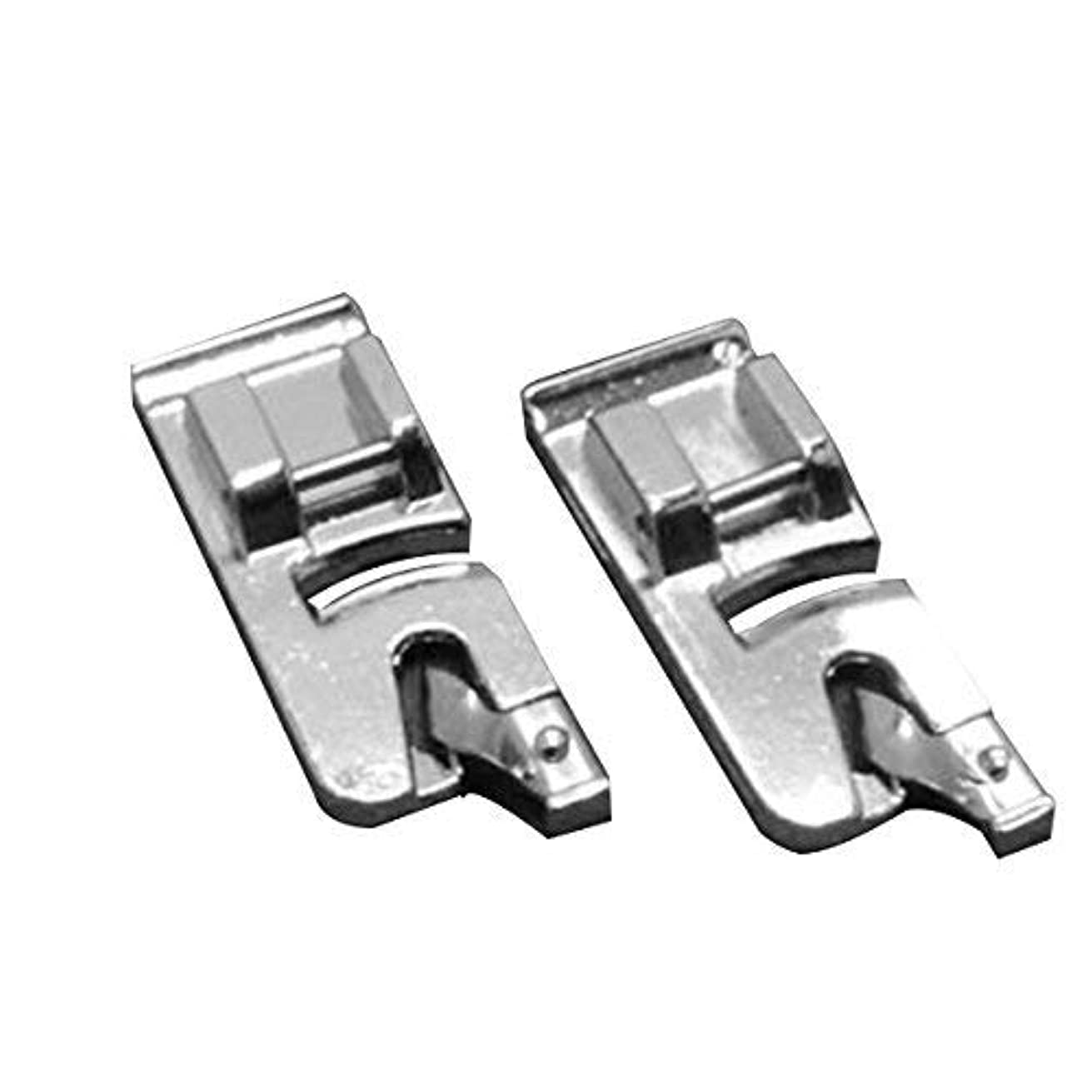 Tinksky Snap-on Rolled Hem Presser Feet for Low Shank Sewing Machines,6mm and 4mm,Pack of 2