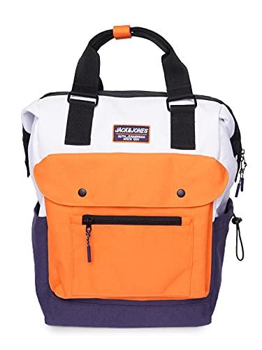 JACK & JONES Mens JACTRINITY Backpack Rucksack, Dunkelblau, Einheitsgröße